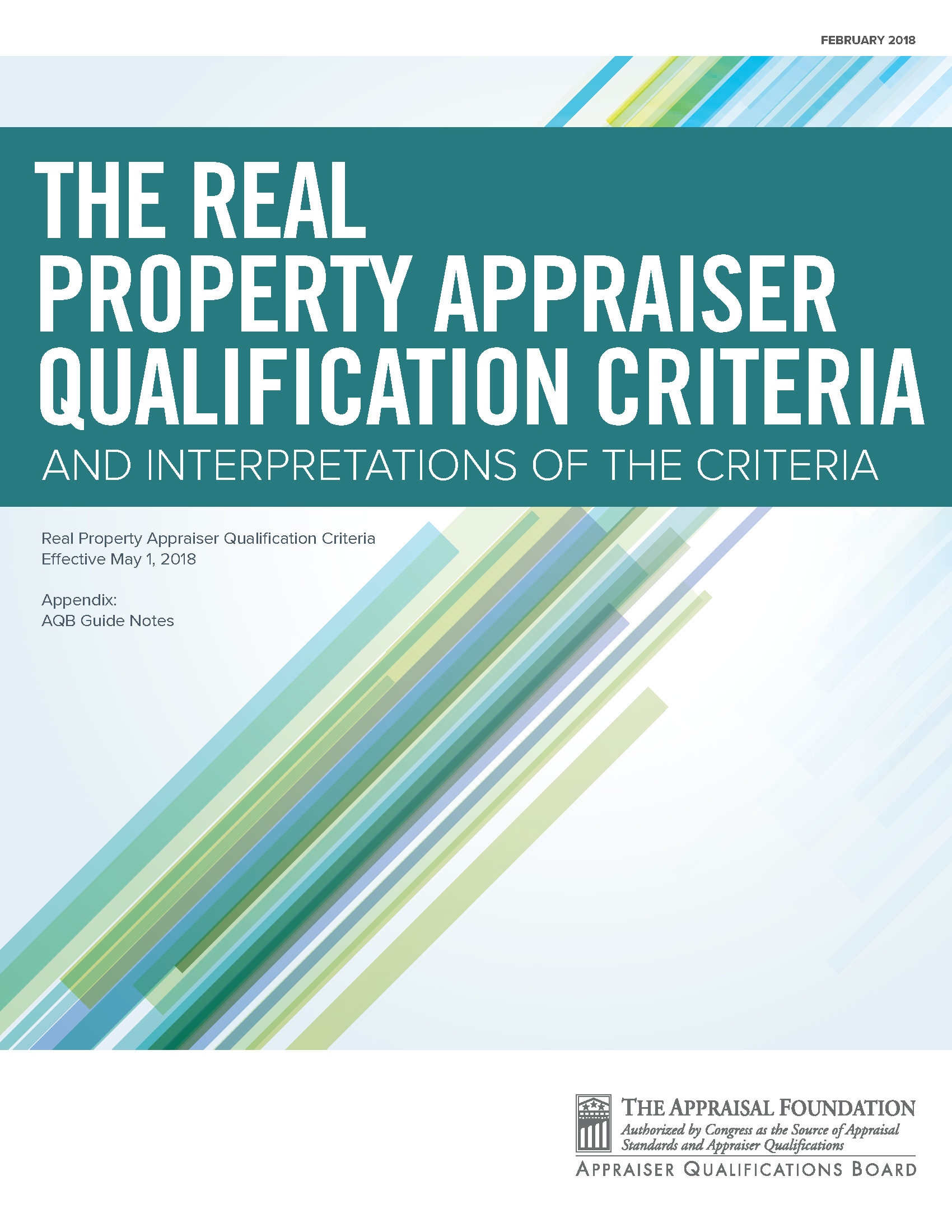 Real Property Appraiser Qualification Criteria