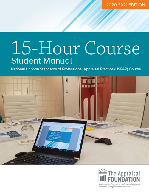2020-21 15-Hour National USPAP Course Student Manual