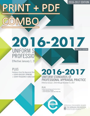2016-17 USPAP Combo Package Deal (Hard copy & Electronic)